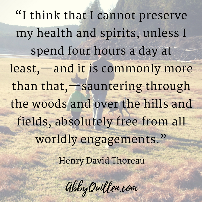 I think that I cannot preserve my health and spirits, unless I spend four hours a day at least..._ Henry David Thoreau #walking #health #mentalhealth