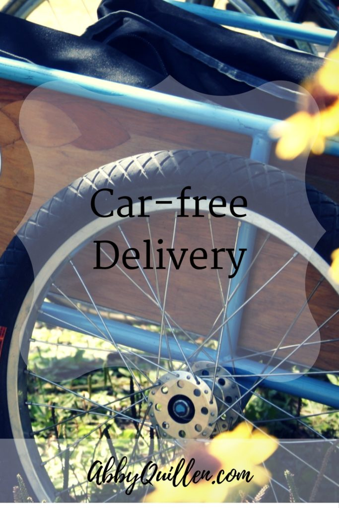 Car-free Delivery #carfree #biking