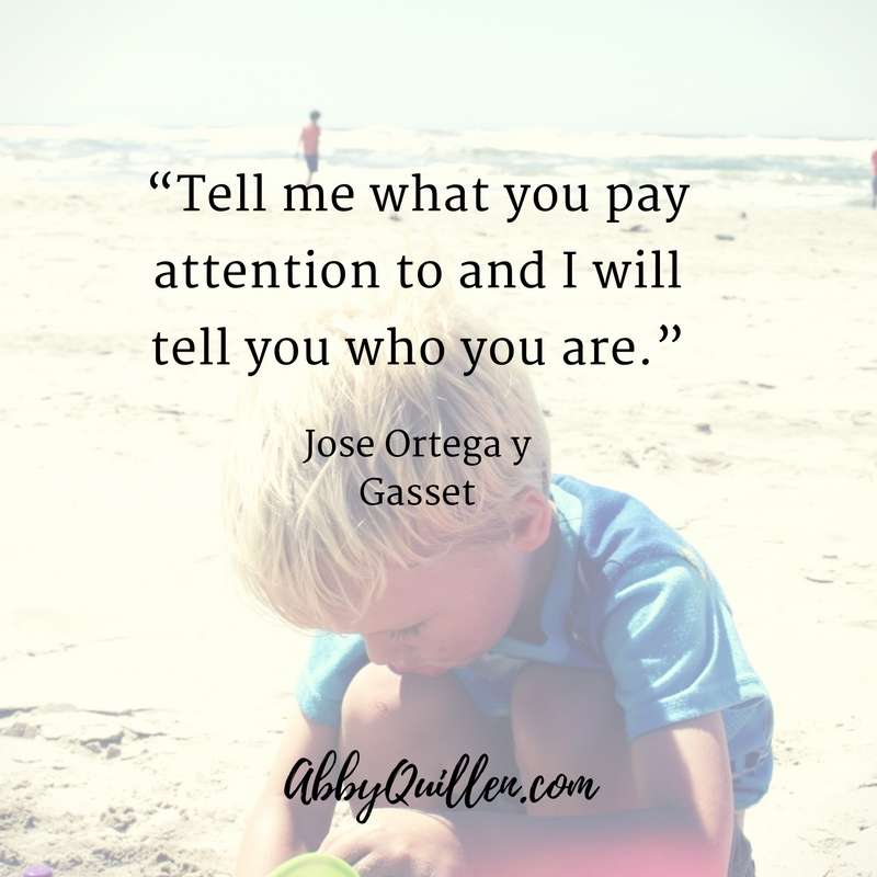 Tell me what you pay attention to and I will tell you who you are. - Jose Ortega y Gasset #lifelessons #focus