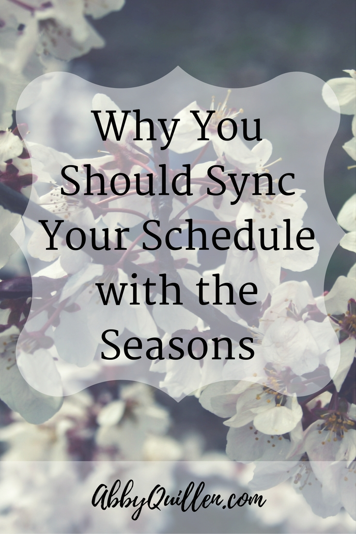 Why You Should Sync Your Schedule with the Seasons #health #productivity