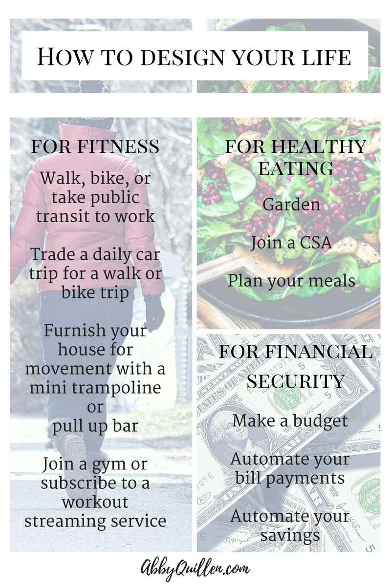 How to Design Your Life for Fitness, Healthy Eating, and Financial Security
